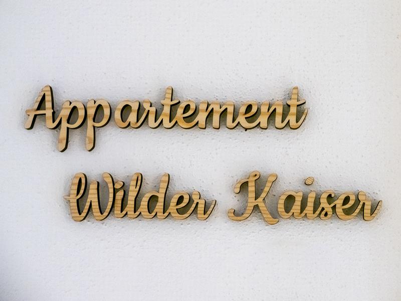 Beschriftung Appartement Wilder Kaiser