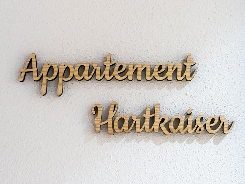 Beschriftung Appartement Hartkaiser