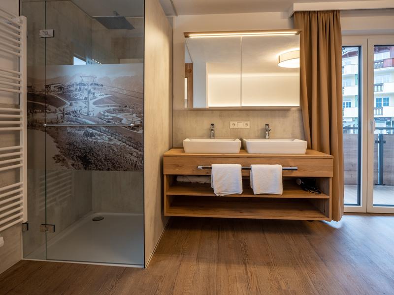 Bad und schlafen Appartement Hartkaiser